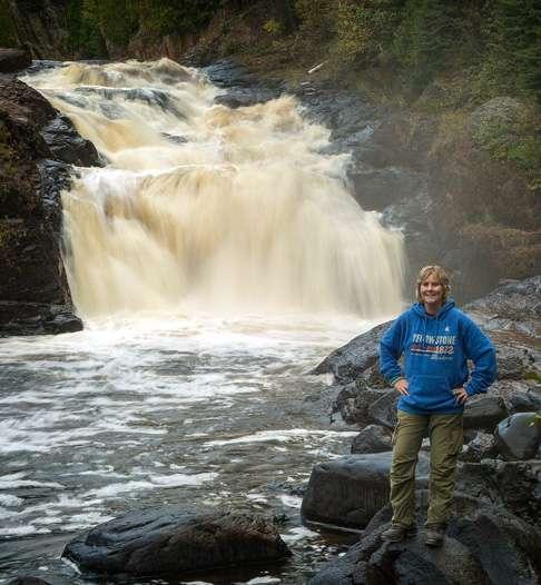 Minnesota Waterfalls-Upper Falls on the Brule River