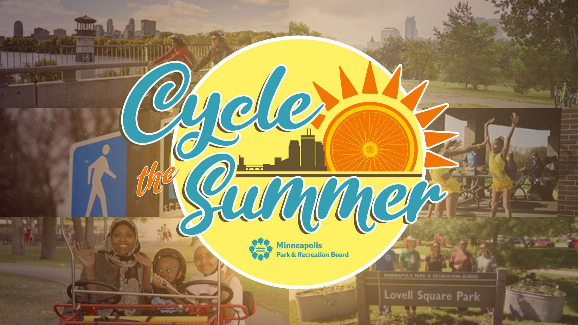 Poster for the Cycle the Summer Series of events by Minneapolis Parks and Recreation