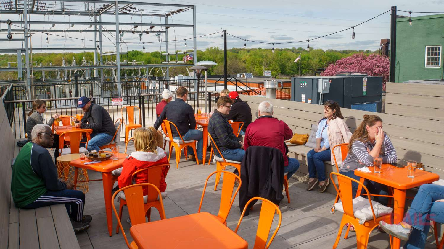 Spiral Brewery's rooftop patio has room for about 30 people