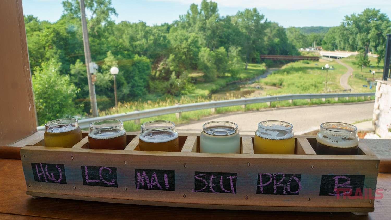 A flight of beers