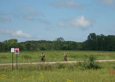 Two men ride their bikes at the inaugural Bluenose Gopher 50 Gravel Race