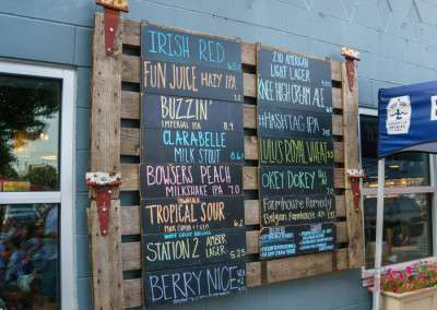 the tap list of Lakeville Brewing Co has a good selection of craft beers