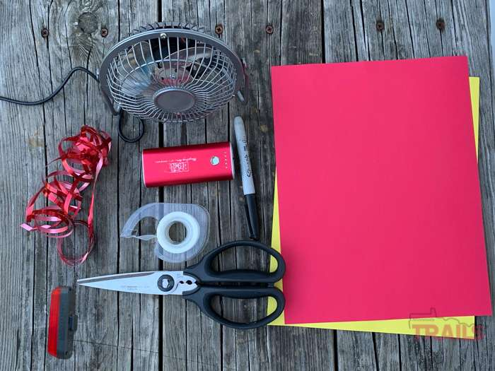 This is a tutorial on how to build your own portable ersatz campfire with stuff you probably have laying around the house